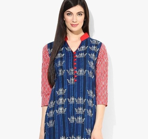 Stand Collar Designs For Kurti : Latest neck designs for kurtis with collar stylish