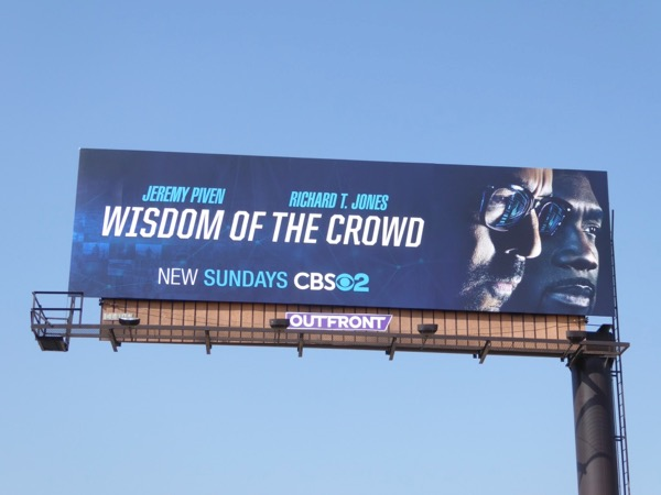 Wisdom of the Crowd series premiere billboard