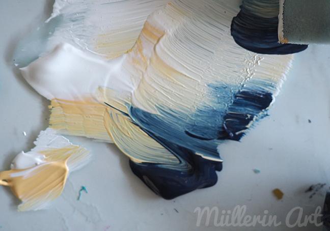 Farbstreifen, Adventspost, Postkunstwerk, ©muellerinart