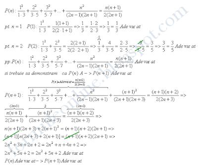 inductie matematica