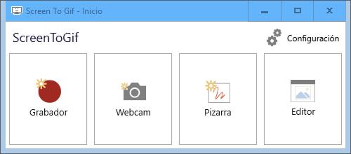 ScreenToGif 2.24 - Grabar un área seleccionada de la pantalla y guardar como GIF - Portable