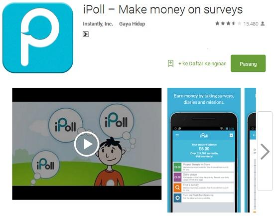 aplikasi android penghasil uang tercepat