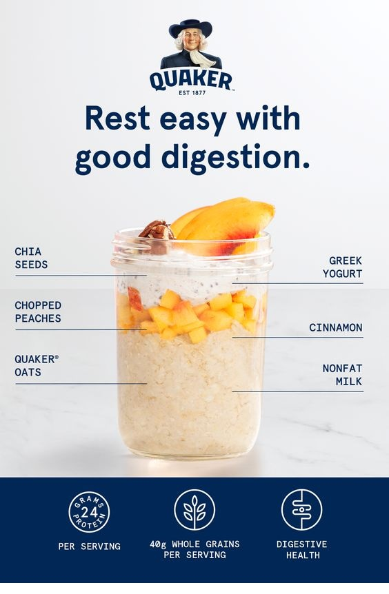 Chia-Peach Overnight Oats