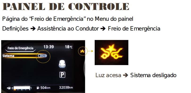 Sensor de colisão desregulado P3