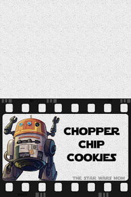 Star Wars Rebels Chopper Chip Cookies Party Food Label