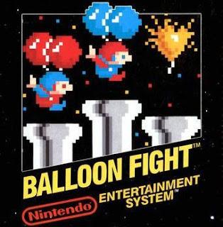 Imagen con la portada del cartucho de NES: Balloon Fight, 1986