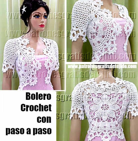 Bolero Maravilloso a Crochet / Aprende a tejer | Crochet y Dos ...