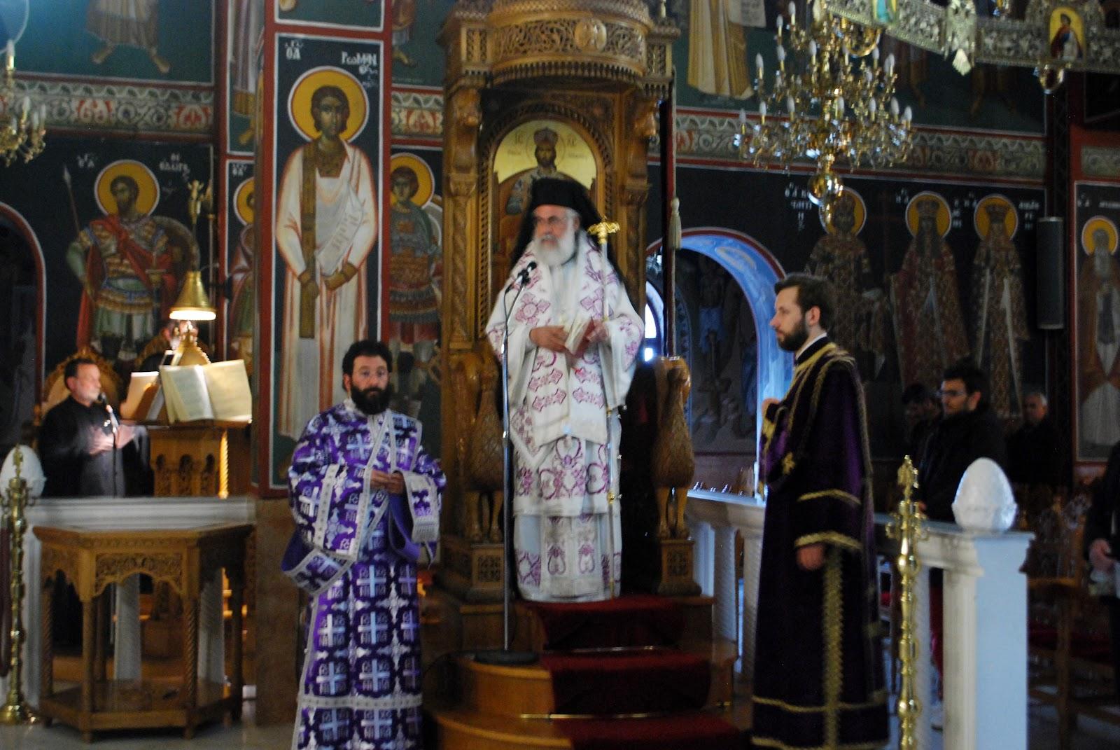 4475a219ae Αθηναγόρας τέλεσε στον ιερό ναό του Αγίου Δημητρίου την ακολουθία των  προηγιασμένων τιμίων δώρων.