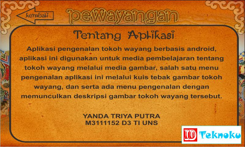 Aplikasi PeWayangan Karya Anak Bangsa Indonesia