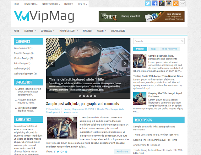 VipMag Blogger Template
