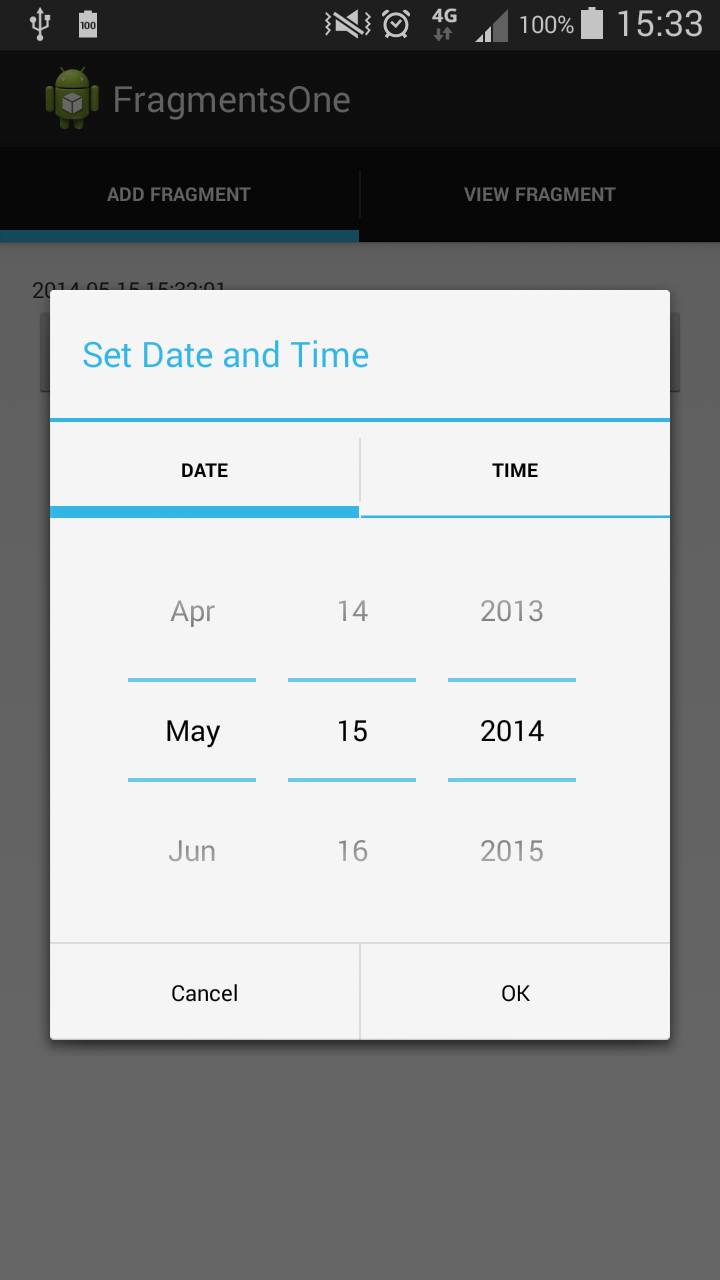 Android Image Picker the continuous improvement project: creating custom date and
