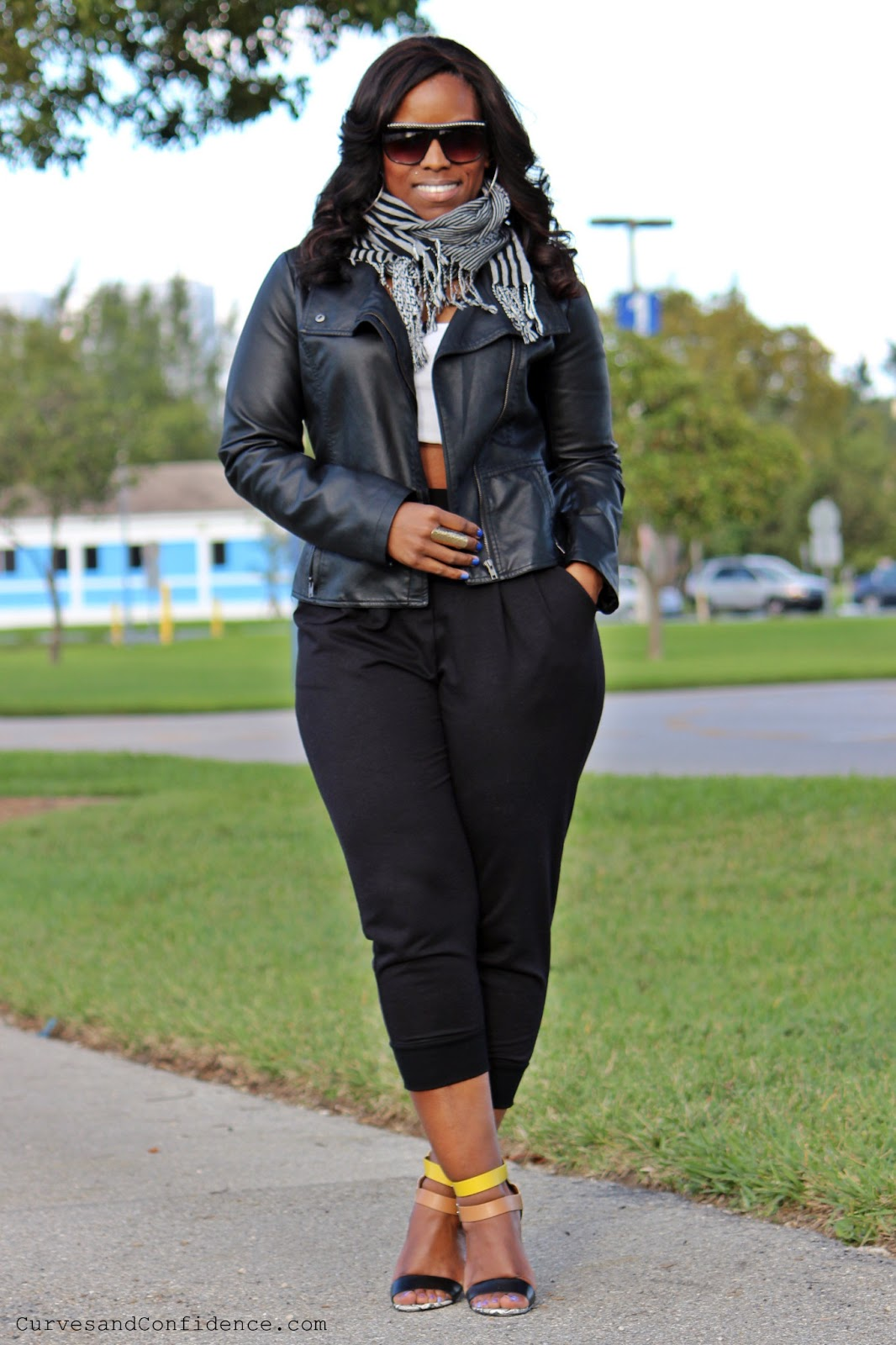High Waist Cropped Top And Jeans Day Outfit Winter