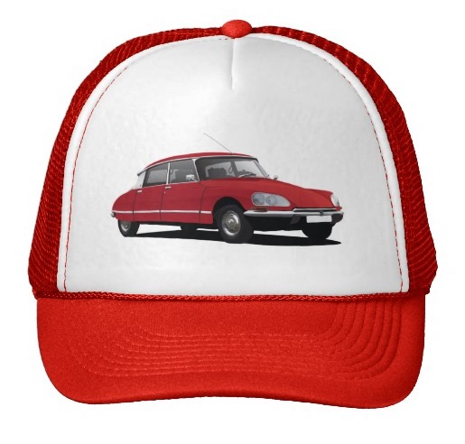 CItroën DS cap hat red