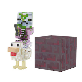 Minecraft Series 4 Chicken Jockey Overworld Figure
