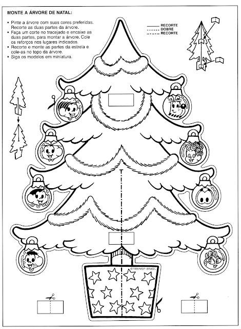 Imagens De Natal Para Colorir E Montar
