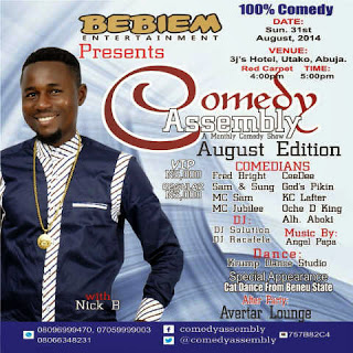 Comedy Assembly, August Edition in Abuja with Nick B
