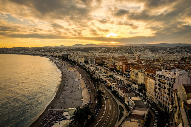 Nice at Sunset, south of France, the day we paid 14 euros for water, mandy charlton, photographer blogger, writer