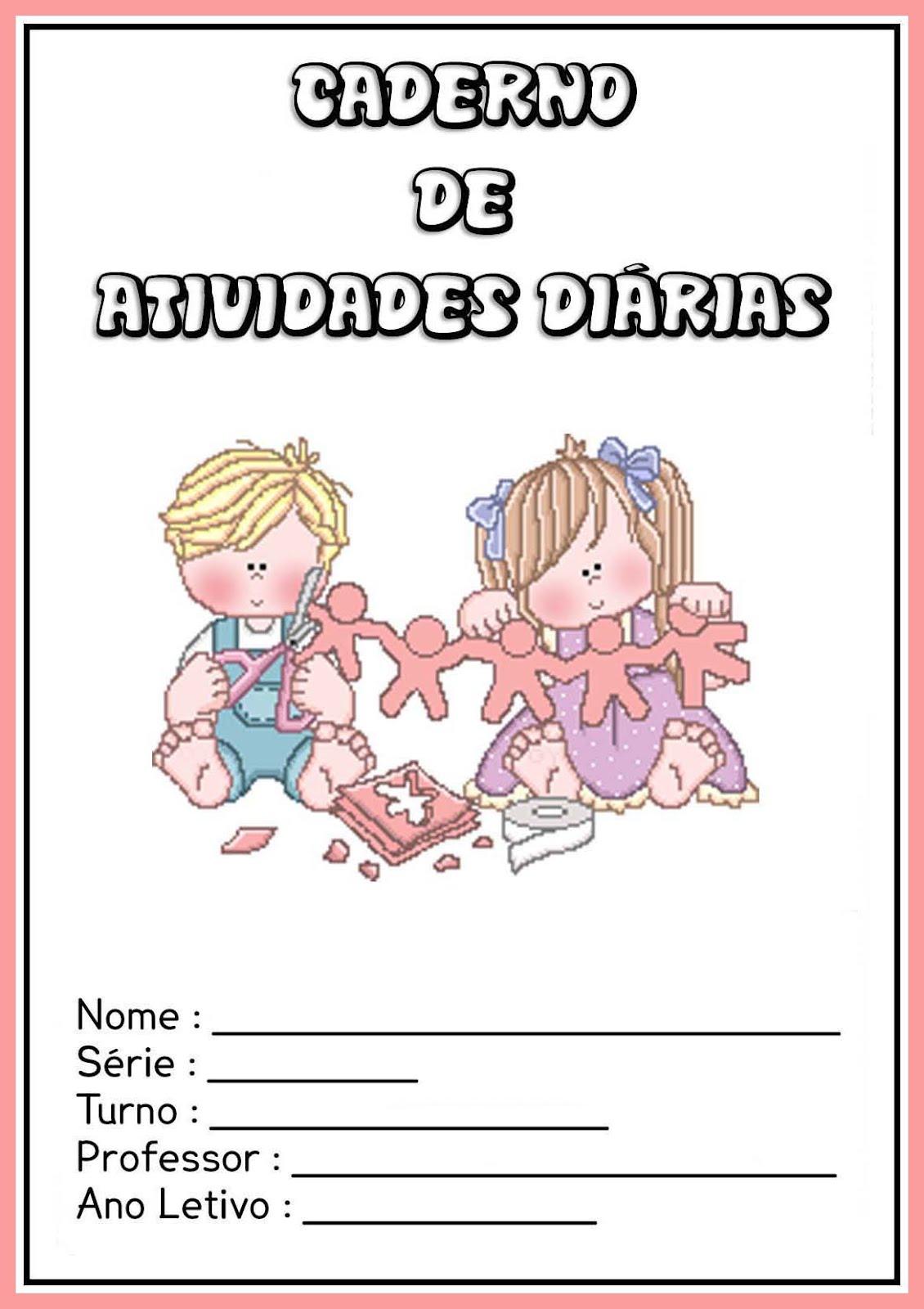 Top CAPAS PARA CADERNO COLORIDAS - Atividades Pedagógicas IM04