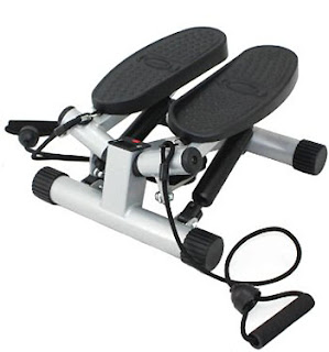 Sunny Twisting Stair Stepper with Band, Silver