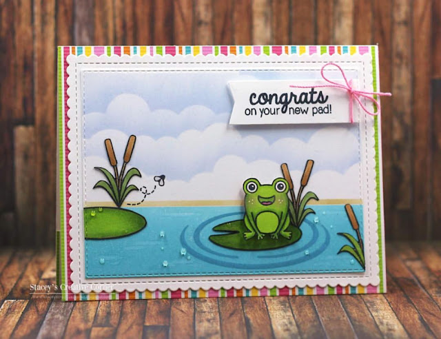 Sunny Studio Stamps: Froggy Friends Customer Card Share by Stacey's Creative Corner