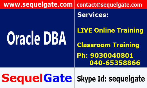 Classroom Training on Oracle DBA @ SequelGate