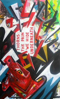 Oana-Singa-Thorns-The-Pain-We-Hide-Underneath-2018-acrylic-on-canvas-48x30inches