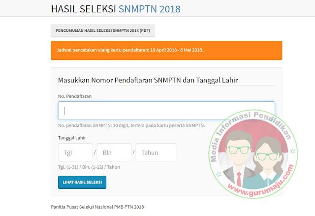 Cara Cek Hasil SNMPTN 2018