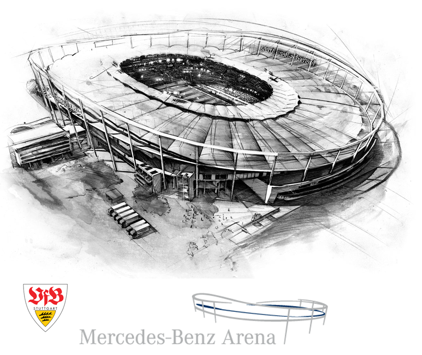 Camisas e manias vfb stuttgart 1893 alemanha for Mercedes benz stadium layout