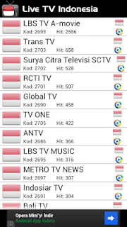 Live TV Indonesia - Aplikasi Menonton TV Android