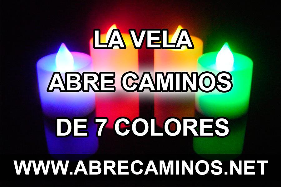 La vela abre caminos de 7 colores