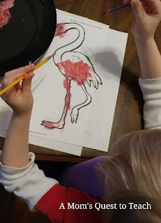 painting a flamingo