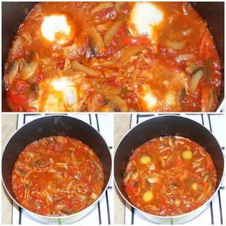 oua in sos de rosii picant, shakshuka, shakshoka, shakshouka, saksuka, retete de mancare din bucataria israeliana, retete culinare,