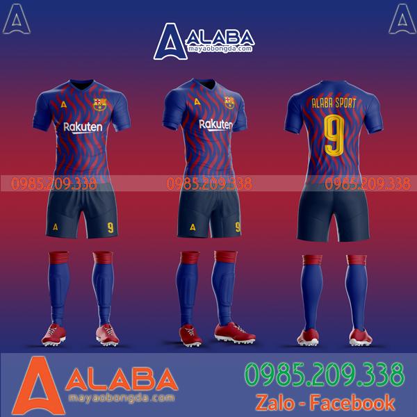 Áo Barca tự thiết kế mã ALB BA08 độc