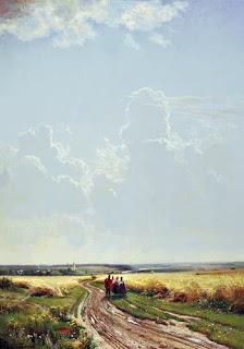 Картина полдень в окрестностях москвы