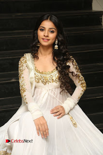 Telugu Actress Mahima Makwana Stills in White Desginer Dress at Venkatapuram Movie Logo Launch  0184.JPG