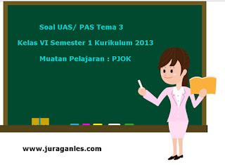 Contoh Soal UAS/ PAS K13 Kelas 6 Semester 1 Tema 3 PJOK