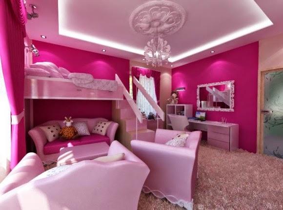 10 dormitorios color rosa para ni a dormitorios colores for Cuartos de nina de 9 anos modernos