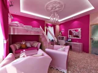 cuarto niña rosa
