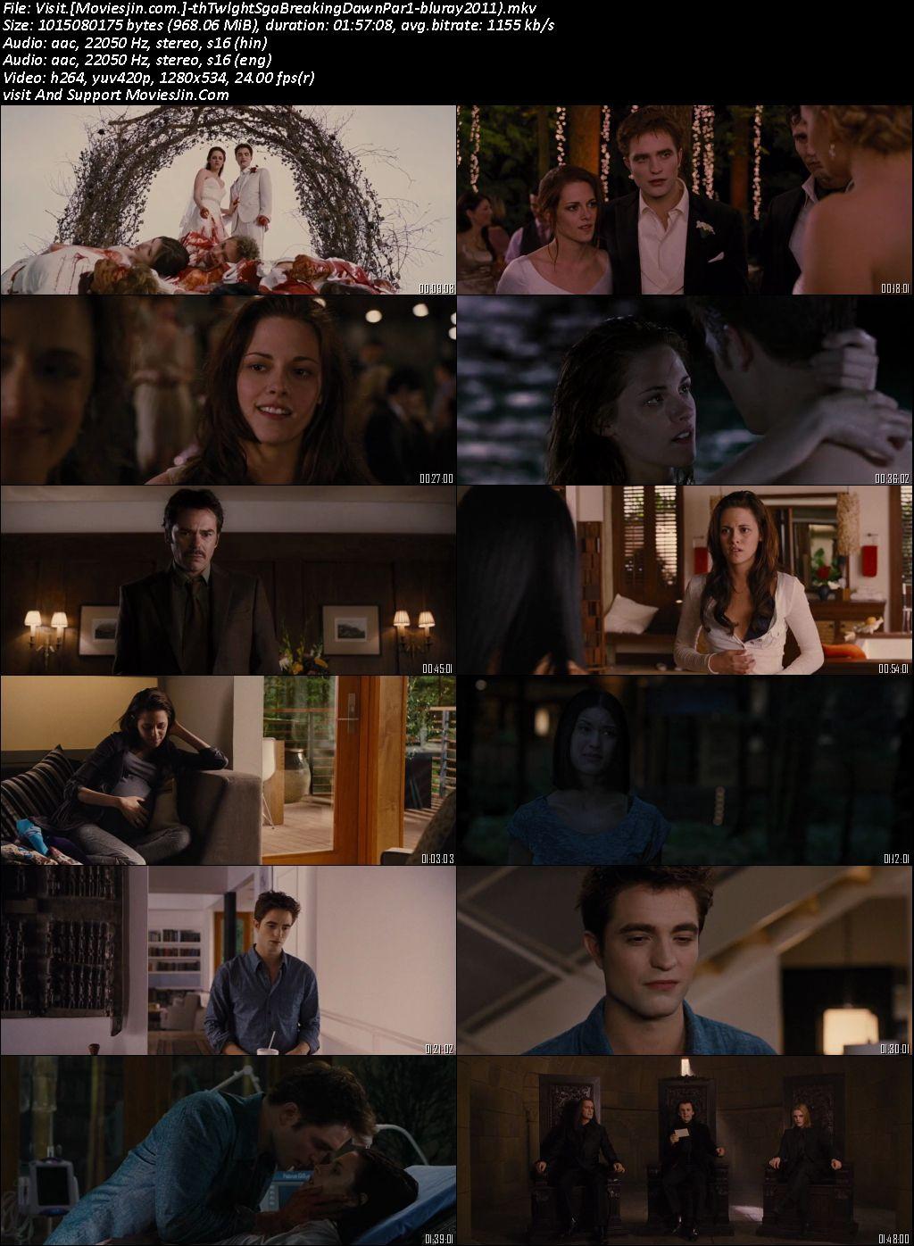 Twilight Saga Breaking Dawn Part 1 2011 BRRIp Hindi Dual Audio 720p