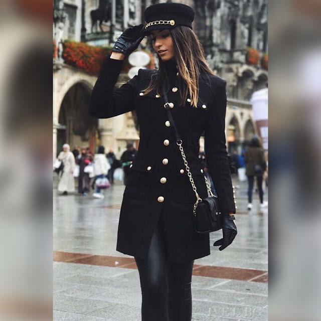 Γυναικείο μαύρο σακάκι ISIS BLACK