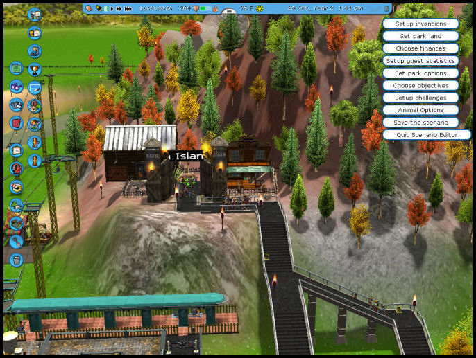 Roller Coaster Tycoon 3 Downloads: Mountain Island RCT3