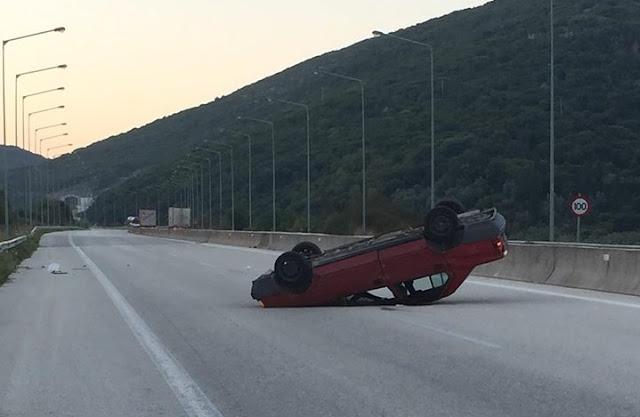 Ηγουμενίτσα: Τροχαίο ατύχημα εχτές το πρωί στην Εγνατία Οδό