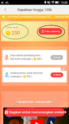 kode undangan aplikasi nonolive