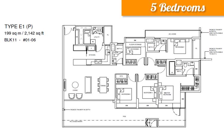 Palms Place 1 Bedroom Suite Floor Plan
