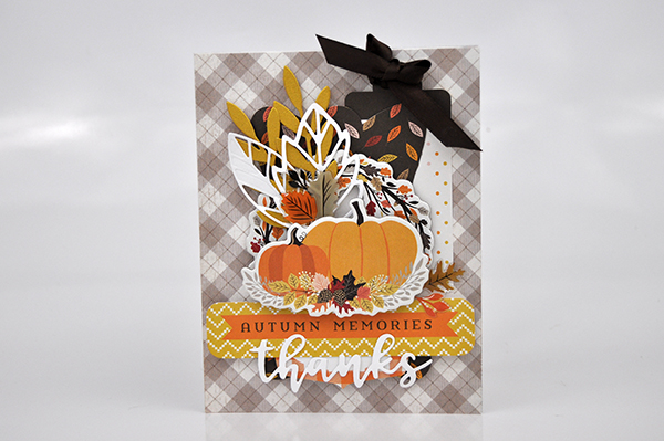 """Autumn Memories Thanks"" card by Jen Gallacher for www.echoparkpaper.com. #card #cardmaker #jengallacher #echoparkpaper"