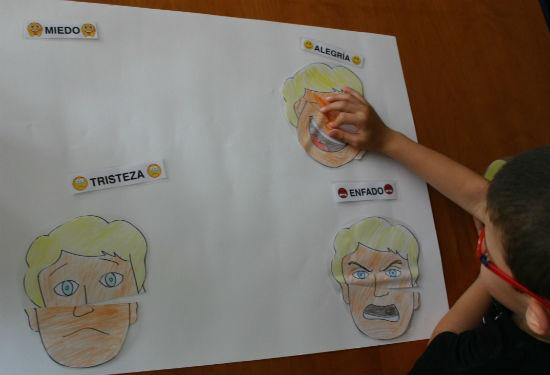 Actividad de educación emocional: identificar expresiones