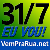 Avatar vem pra rua Brasil 31 julho amarelo e verde, fora Dilma