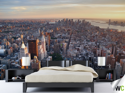 New York Wall Mural Bedroom