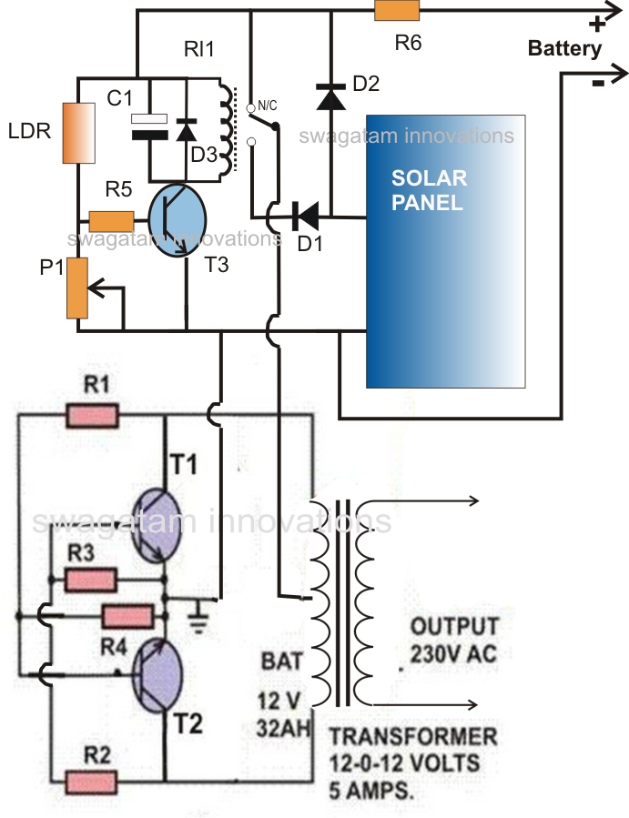 Solar InverterCharger Circuit for Science Project