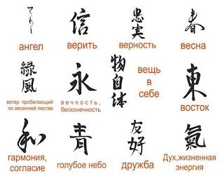 значение японских иероглифов